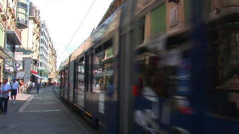 geneva tram Stock Video Footage