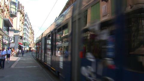geneva tram Footage
