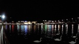 geneva lake night Footage