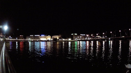 geneva lake night Stock Video Footage