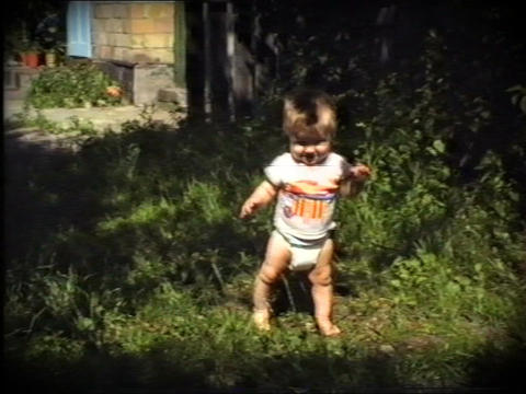 first steps Stock Video Footage