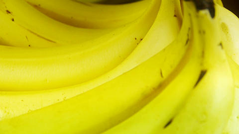 Rotation of delicious banana fruit plate Footage