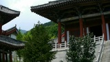 China ancient temple architecture in forest Footage