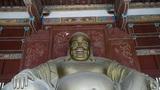 Smiling pregnant Maitreya Buddha Footage