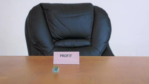 Businessman Shoots Marble Profit Stock Video Footage