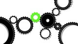 Gears, Seamless Loop stock footage