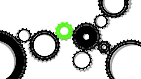 Gears, seamless loop Stock Video Footage