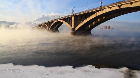 Bridge mist Stock Video Footage