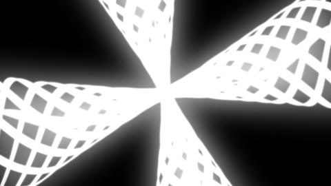 psychadelic cone rotation with alpha Stock Video Footage