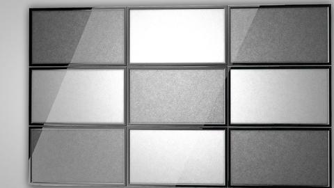 plasma TV wall 01 Stock Video Footage