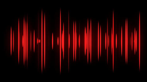 Red Audio Spectrum Stock Video Footage