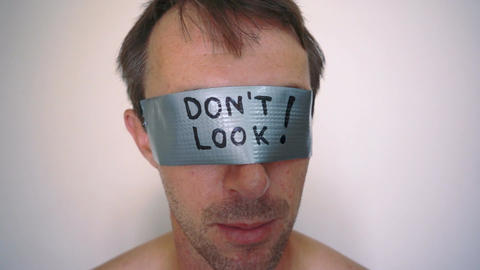 See No Evil Duct Tape Stock Video Footage