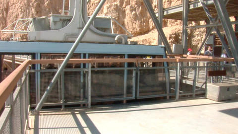cableway on Mount Masada 3 Stock Video Footage