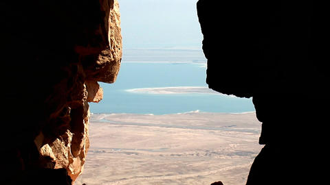 View from Masada Stock Video Footage