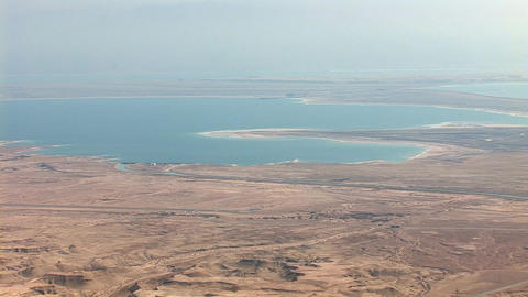 view from Masada: Dea Sea, Israel, Jordan Stock Video Footage