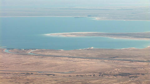 view from Masada: Dea Sea, Israel, Jordan Stock Video Footage
