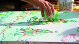 Artist Paints A Picture 1 stock footage