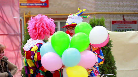 Clown 2 Stock Video Footage