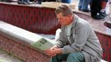 Man reading a newspaper 1 Footage