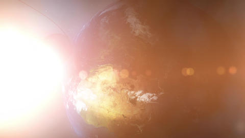 Sputnik Space Satellite Orbits Europe, Middle East,... Stock Video Footage