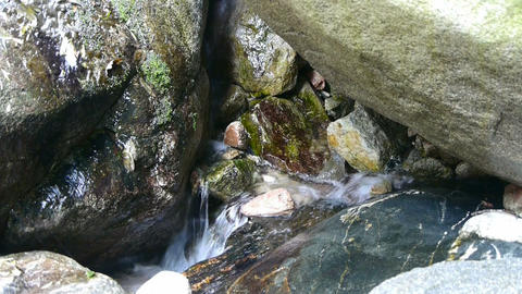river stream inlets over stones,spring Stock Video Footage