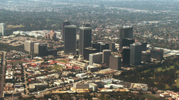 Aerial, West Los Angeles, California Footage