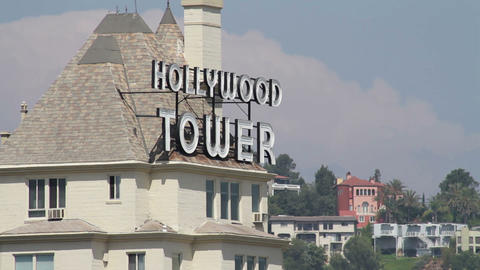 Hollywood Tower 01 Stock Video Footage