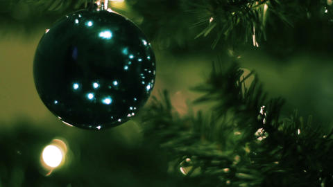 Christmas Tree Ornaments 01 Stock Video Footage