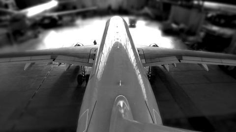 airplane hangar start Stock Video Footage