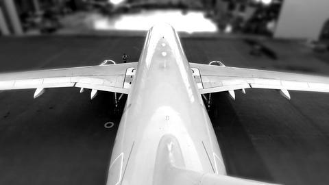airplane hangar end Stock Video Footage