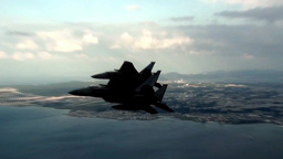F-15 Eagle fighter jets in flight Footage