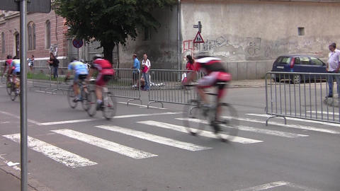Compact group of cyclists are in competition fever 43b Footage