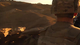 U.S. infantry soldiers from Forward Operating Base Airborne vantage point Footage