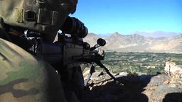 U.S. infantry sniper scanning the area Footage