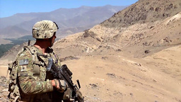 U.S. infantry soldiers from Forward Operating Base Airborne patrol Footage