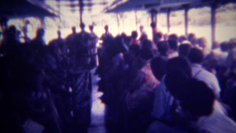 1973: Boating river tour ride with native dancing entertainment. HONOLULU, HAWAI Footage
