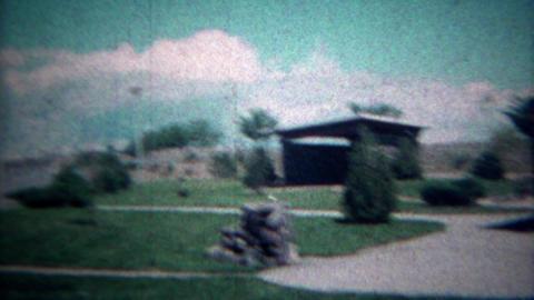 1972: Rest stop road trip conversion van interstate highway travel. MADISON, WIS Footage