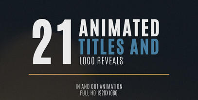 21 Minimal Title and Logo Animation After Effects Template