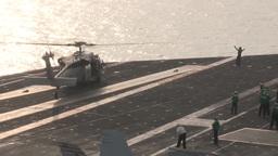 Helicopter Flight Operations on the USS Harry S. Truman Footage