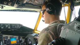 KC-135R Stratotanker pilots Refuels B-1B Lancer Over Afghanistan Footage