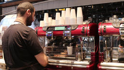 Barista making late Footage