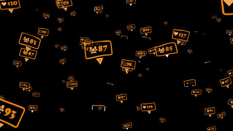 Social marketing concept Animation