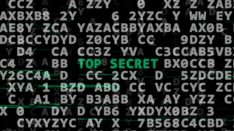 Password, top secret and secret code Animation