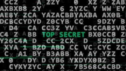 Password, top secret and secret code Animation