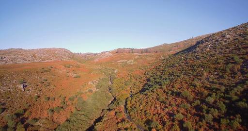 Aerial, Flying In The Mountainous Landscape Of Parque Nacional Peneda-Geres, Por Footage