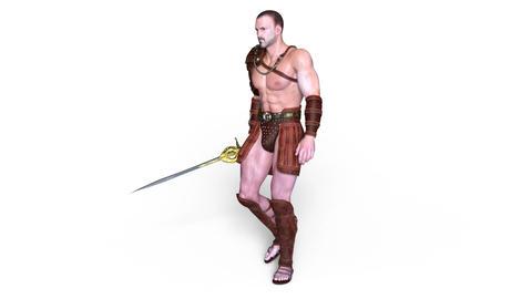 Gladiator Walk Animation