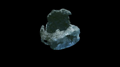Meteorite stone rotation alpha render Animation