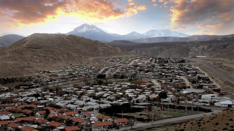 Chos Malal, City In The Andes Footage