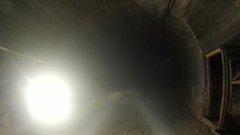 Underground Tunnel in Calcareous Rock Mine Footage