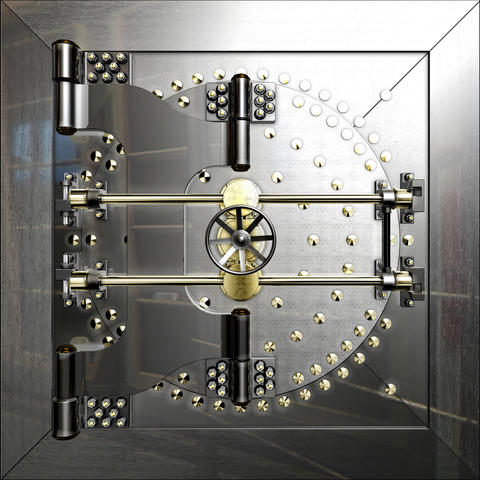 Bank vault door Photo